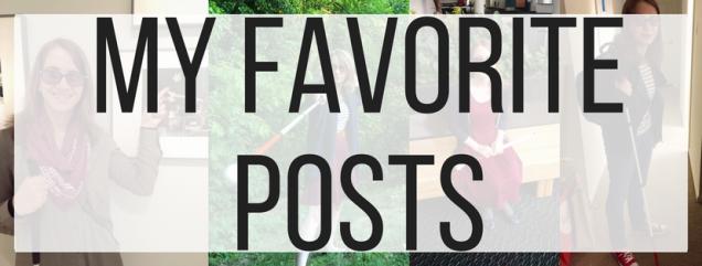 My Favorite Posts